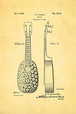 Kamaka Ukulele Patent Art 1928 Print by Ian Monk