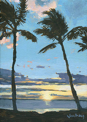Haleiwa Painting - Kamaole Sunset by Stacy Vosberg