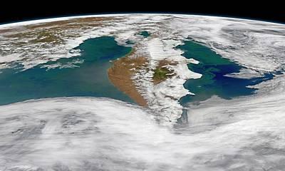 Kamchatka Peninsula Phytoplankton Bloom Print by Norman Kuring, Nasa Ocean Color Group