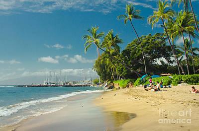 Kamehameha Iki Park Beach Lahaina Maui Hawaii  Print by Sharon Mau