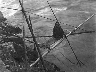 Kamloops Photograph - Kamloops Fisherman On Fraser by Underwood Archives