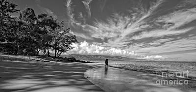 Kanahna Beach Maui Hawaii Panoramic Print by Edward Fielding