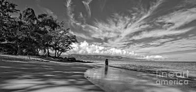 Surfing Photograph - Kanahna Beach Maui Hawaii Panoramic by Edward Fielding