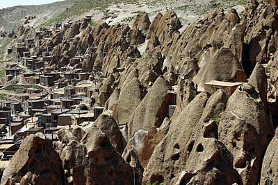 Kandovan Cliff Village Print by Babak Tafreshi
