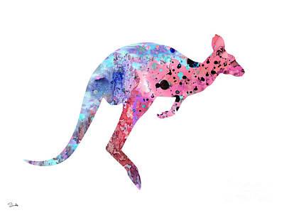 Kangaroo Painting - Kangaroo 2 by Luke and Slavi