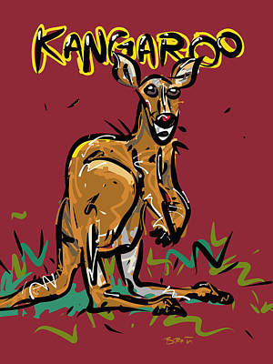 Kangaroo Drawing - Kangaroo by Brett LaGue