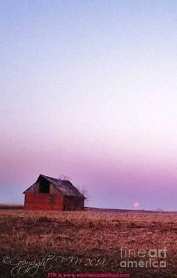 Photograph - Kansas Blood Moon Morning by PainterArtist FIN