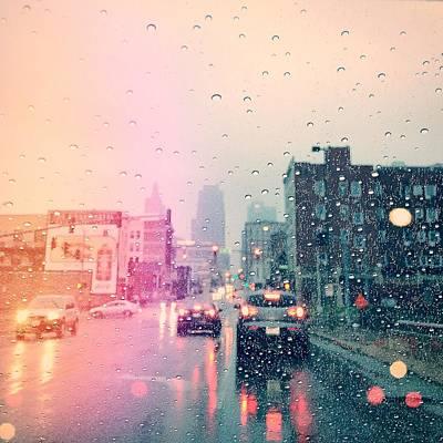 Rain Digital Art - Kansas City #1 by Stacia Blase