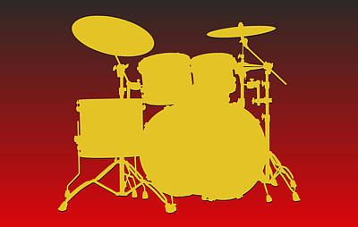 Drum Photograph - Kansas City Chiefs Drum Set by Joe Hamilton