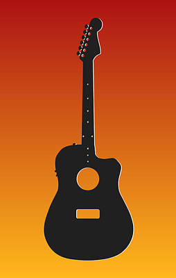 Kansas City Chiefs Guitar Print by Joe Hamilton