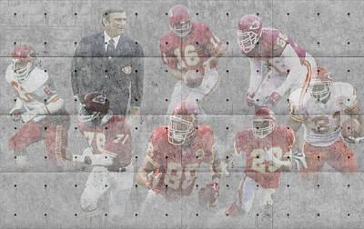 Kansas City Chiefs Legends Print by Joe Hamilton