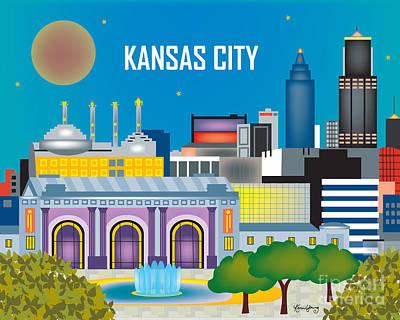 Kansas City Print by Karen Young