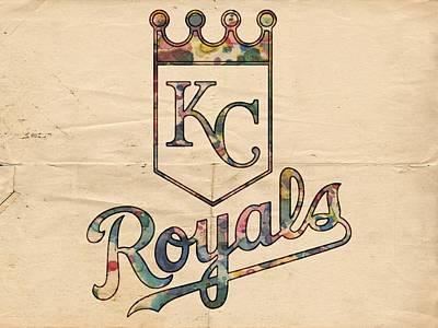 Bat Digital Art - Kansas City Royals Poster Vintage by Florian Rodarte