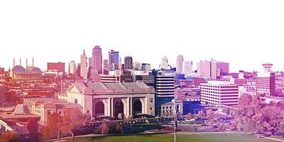 Kansas City Skyline Print by Stacia Blase