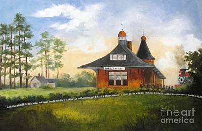 Kansas Artist Painting - Kansas City Train Depot by Barbara Haviland