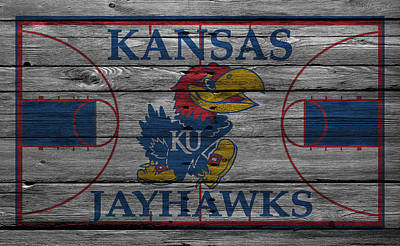 Benches Photograph - Kansas Jayhawks by Joe Hamilton