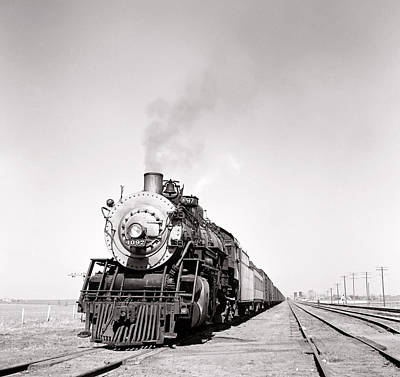 Brakeman Photograph - Kansas Steam Locomotive 1943 by Daniel Hagerman