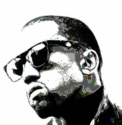 Rapper Painting - Kanye West by  Fli Art