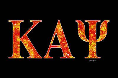 African-american Digital Art - Kappa Alpha Psi - Black by Stephen Younts