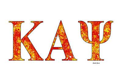 Kappa Alpha Psi - White Print by Stephen Younts