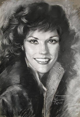 Singer Drawing - Karen Carpenter by Viola El