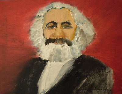 Dialectics Painting - Karl Marx by Rob Spencer