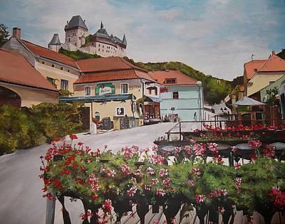 Landscape Painting - Karlstejn Castle by Cherise Foster