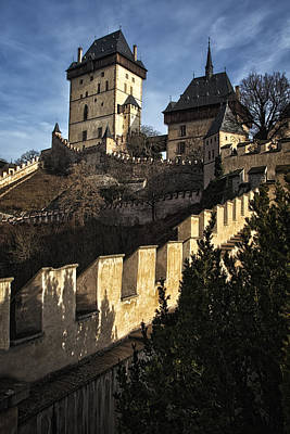 Karlstejn Castle Color Original by Joan Carroll