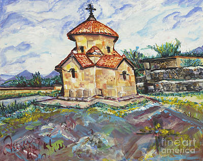 Karmravor Church Vii Century Armenia Print by Helena Bebirian