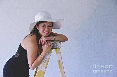 Vietnamese Female Model Photograph - Kat In The Hat 2 by Sean Griffin