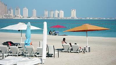 Qatar Photograph - Katara Beach by Bob Edwards