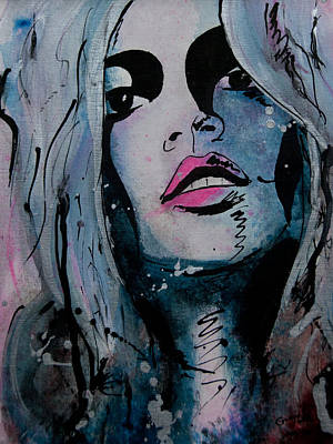 Ikon Mixed Media - Kate Moss by Gracja Waniewska