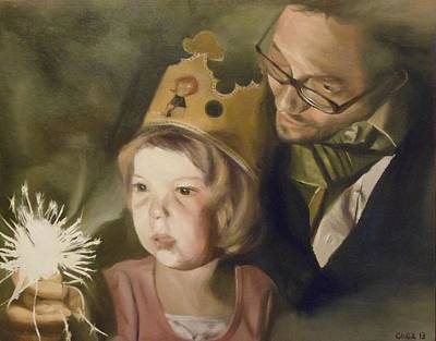 Kate's Sparkler Print by Cherise Foster