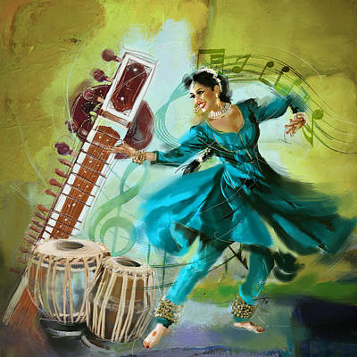 Dance Painting - Kathak Dancer 4 by Catf