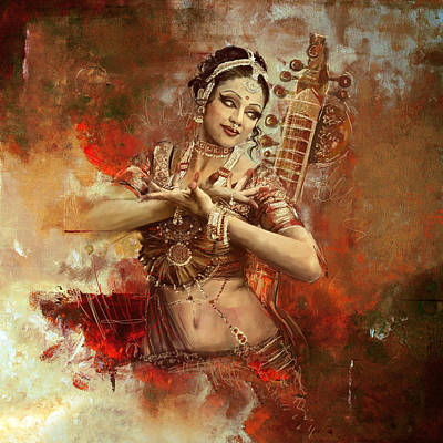 Asia Painting - Kathak Dancer by Corporate Art Task Force