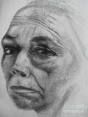 Hunger Drawing - Kathe Kollwitz by Jacquelyn Roberts