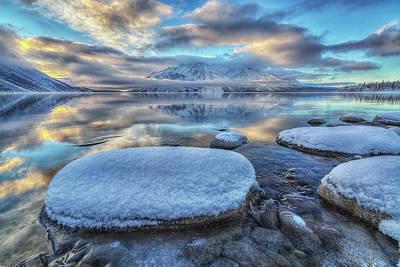 Mirror Imaging Photograph - Kathleen Lake And Mount Worthington by Robert Postma