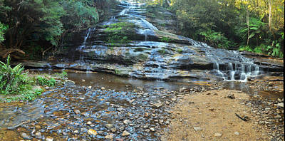 Katoomba Cascades Panorama Print by Terry Everson