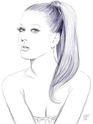 Bluejay Digital Art - Katy Perry by Jason Longstreet