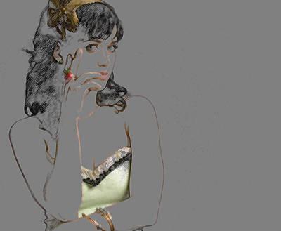 Katy Perry Print by Marvin Blaine