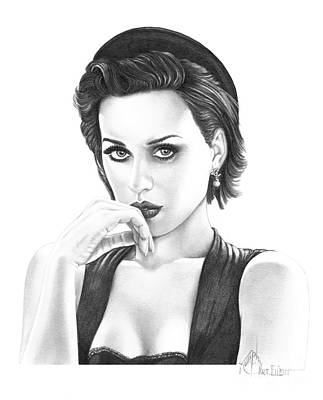 Famous People Drawing - Katy Perry by Murphy Elliott