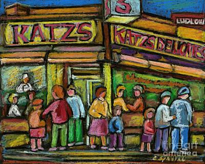 Katz's Deli Print by Carole Spandau