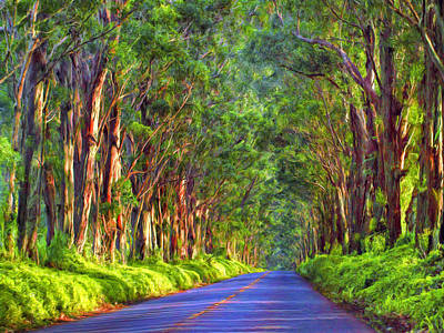 Haleiwa Painting - Kauai Tree Tunnel by Dominic Piperata