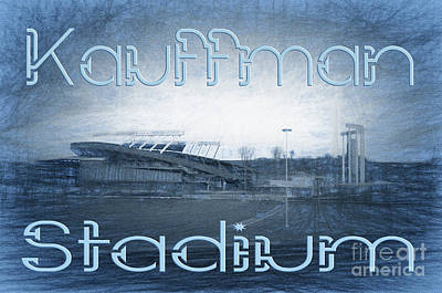 Kauffman Stadium Print by Andee Design