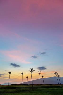 Kauhale Makai Sunset Print by Pierre Leclerc Photography