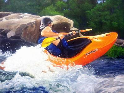 Kayaking Fun Print by Cireena Katto