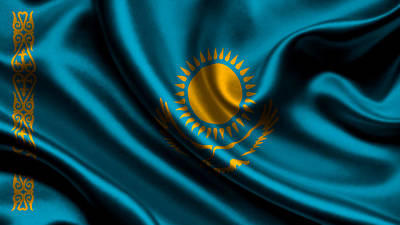 Flag Photograph - Kazakhstan Flag by VRL Art