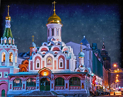 Kazan Cathedral. Red Square. Moscow Russia Print by Juli Scalzi