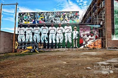 Kc Monarchs - Baseball Print by Liane Wright