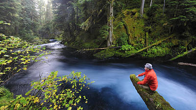 With Red Photograph - Kckenzie River by Christian Heeb